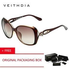 VEITHDIA Retro TR90 Mengemudi Wanita Matahari GlassesLuxury Oculos Eyewear Desain De Sol Feminino 7022 Terpolarisasi Kacamata Hitam For Perempuan (coklat) [membeli 1 Mendapatkan 1 Hadiah]