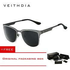Beli Veithdia Stainless Steel Matahari Kacamata Terpolarisasi Biru Lapisan Cermin Mengemudi Laki Laki Eyewear Pria Wanita 3580 Buy 1 Mendapatkan 1 Hadiah Pake Kartu Kredit