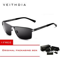 Toko Veithdia Kacamata Pria Bahan Stainless Steel Lensa Terpolarisasi Untuk Mengemudi Termurah