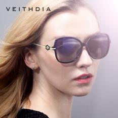 VEITHDIA TR90 Mengemudi Wanita Matahari Kacamata Terpolarisasi Cermin Lensa Kacamata Hitam Wanita Mewah Desain Eyewear For
