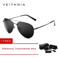 Toko Veithdia Unisex Fashion Sunglasses Polarized Coating Mirror Mengemudi Sunglasses Oculos De Sol Feminino Eyewear Pria Wanita 2736 Grey Beli 1 Gratis 1 Freebie Dekat Sini