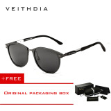 Beli Veithdia Merek Unisex Retro Aluminium Magnesium Sunglasses Polarized Lensa Vintage Outdoor Eyewear Aksesoris Sun Glasses 6680 Abu Abu Beli 1 Gratis 1 Freebie Nyicil