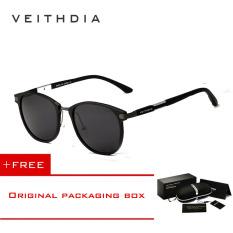 Harga Termurah Veithdia Merek Unisex Retro Aluminium Magnesium Sunglasses Polarized Lensa Vintage Outdoor Eyewear Aksesoris Sun Glasses 6680 Hitam Beli 1 Gratis 1 Freebie