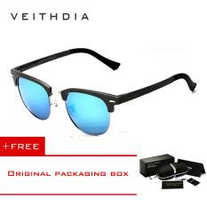 Top 10 Veithdia Unisex Kacamata Hitam Magnesium Aluminium Retro Vintage Aksesoris Kacamata Terpolarisasi Cermin Luar Ruangan Kacamata Matahari 6690 Biru Membeli 1 Mendapatkan 1 Hadiah Online