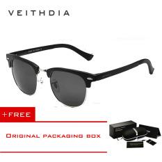 Diskon Veithdia Kacamata Unisex Gaya Retro Vintage Bahan Alumunium Magnesium Lensa Polarisasi Untuk Outdoor