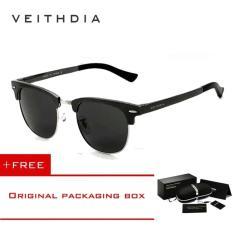 Jual Veithdia Unisex Retro Aluminium Magnesium Sunglasses Polarized Cermin Vintage Outdoor Eyewear Aksesoris Sun Glasses 6690 Abu Abu Intl Satu Set