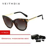 Jual Veithdia Vintage Large Sun Glasses Polarized Cat Eye Ladies Designer Women Sunglasses Outdoor Eyewear Accessories Female 7016 Brown Buy 1 Get 1 Freebie Intl Veithdia