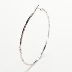 Velishy Wanita Trendy Besar Lingkaran Sederhana Hoop Anting Kepribadian Lingkaran Besar Silver