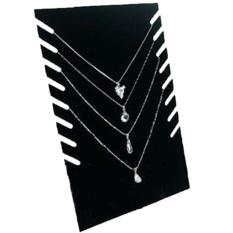 Velvet Perhiasan Display Stand Kalung Pendant Rantai Gelang Organize Holder Plate Tampilkan Rack Spesifikasi: Square