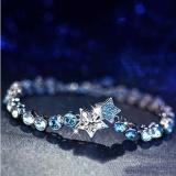 Pusat Jual Beli Venflon Gaun Ladies Crystal Rhinestone Biru Ocean Star Sliver Plated Chain Bracelet Bangle Bertahap Warna Intl Tiongkok