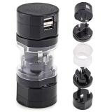 Review Tipe Vertikal Ukuran Mini Adaptor Perjalanan Internasional Plug Usb Port Pengisian Ganda Universal Ac Soket Kit Oem Di Tiongkok