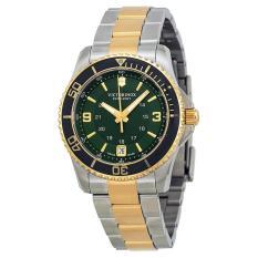 VICTORINOX SWISS ARMY 241612 Maverick GS - Jam Tangan Wanita - Stainless - Silver - Gold - Green