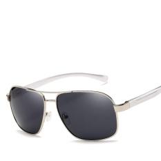 Victory Men Cahaya Terpolarisasi Aluminium Magnesium Drive Fashion Sunglasses Leisure Fishing Sunglasses (NO.3 Grey)-Intl