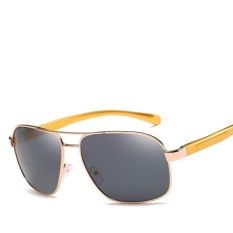 Victory Men Cahaya Terpolarisasi Aluminium Magnesium Drive Fashion Sunglasses Leisure Fishing Sunglasses (NO.4 Grey)-Intl
