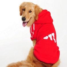 Kemenangan Baru Sweater Anjing Pet Pakaian Olahraga Bernapas Big Dog Hoodie Pakaian Hewan Peliharaan Pet Shirts (red-9xl)-Intl