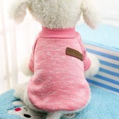 Kemenangan Baru Pet Pakaian Pakaian Anjing Indah Dompet Nol Hat Hat Kartun PET Shirts (Blush Pink-XL) -Intl
