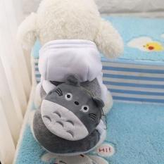Kemenangan Baru Pet Pakaian Pakaian Anjing Indah Dompet Nol Hat Hat Kartun PET Shirts (Grey-XL) -Intl