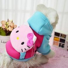 Kemenangan Baru Pet Pakaian Pakaian Anjing Indah Dompet Nol Hat Hat Kartun PET Shirts (Hotpink-XL) -Intl