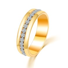 Kemenangan Baru Cincin Uniseks Modis Perhiasan Ornamen Hadiah Menjual Penjepit Bor Mewah Sederhana Indonesia Ngumpul Di Sini Lingkaran (Emas)-Internasional