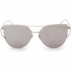 Vienna Linz Kacamata Wanita Cat Eye Sunglasses Classic RunBird  s1872 - Silver