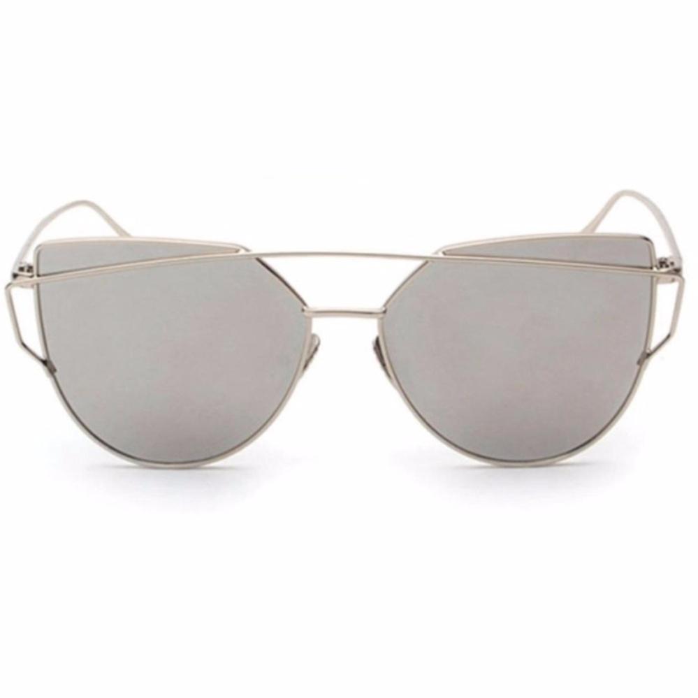 High Quality Material Vienna Linz Kacamata Wanita Cat Eye Sunglasses Classic RunBird s1872 - Silver