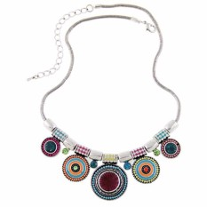 Harga Vienna Linz Kalung Fashion Alura Circle Korea Vintage Rhinestone Necklace Pendant Casual Jewelry Accessories Multicolor Origin