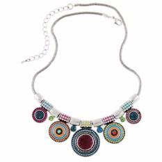 Jual Vienna Linz Kalung Fashion Alura Circle Korea Vintage Rhinestone Necklace Pendant Casual Jewelry Accessories Multicolor Vienna Linz Original