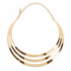 Harga Vienna Linz Kalung Pesta Fashion Moon Stripes Choker Necklace Gold Online