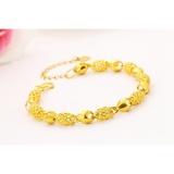 Katalog Vietnam 24 K Gold Plated Charm Gelang Wanita Perhiasan Grosir Kuningan Berlapis 24 K Emas Dengan Bell Ladies Gelang Anklet Intl Oem Terbaru