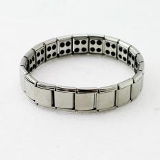 Vinmax Hot Sell Titanium Kesehatan Gelang Kuat Nano Germanium Keseimbangan Magnetik Ion Gelang (Silver)-International