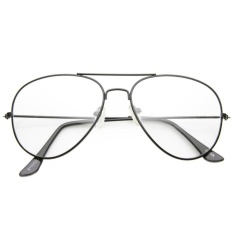 Vintage Aviator Clear Sunglasses AV800 BLK - Kacamata Pria dan Wanita