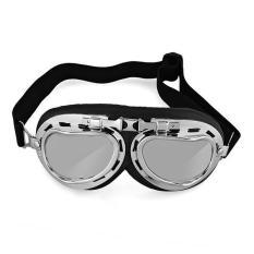 Diskon Vintage Pilot Percontohan Perlindungan Kacamata Helm Sepeda Motor Baru Branded