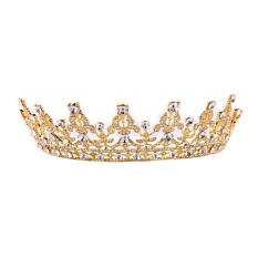 Jual Kristal Antik Emas Crown Hiasan Kepala Tiara Pernikahan Aksesoris Rambut Pengantin Grosir