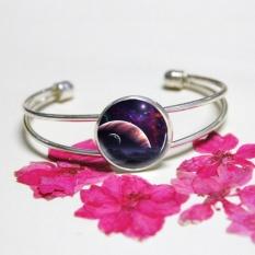 Toko Jual Vintage Galaxy Nebula Ruang Bangle Gelang Charm Bracelet Fashion Perhiasan Hadiah Intl