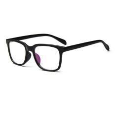 Pria Vintage Kacamata Bingkai Kacamata Retro Spectacles Bening Lensa Kacamata untuk Pria-Hitam-Intl