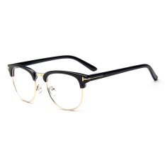 Pria Vintage Kacamata Bingkai Kacamata Retro Spectacles Bening Lensa Kacamata untuk Pria