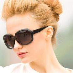 Asli Vintage Oval Lensa Plastik UV400 Elegan Wanita Polarized Sun Kacamata Outdoor Berkualitas Tinggi Mengemudi Merek Kacamata-Intl