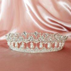Toko Vintage Putri Diana Pearl Crown Tiara Headband Super Flash Tetes Mahkota Pengantin Pernikahan Aksesoris Pernikahan Bentuk Perhiasan Mahkota Intl Lengkap