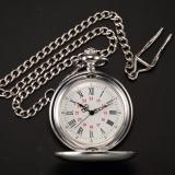 Review Vintage Perak Pria Wanita Quartz Liontin Pocket Watch Clock Rantai Fashion Hadiah Wpk027 Wpk027 Intl