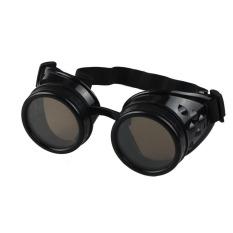 Gaya Vintage Kacamata Las Kacamata Cosplay Steampunk Punk Yang Hitam