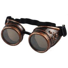 Promo Gaya Vintage Kacamata Las Kacamata Cosplay Steampunk Punk Yang Merah Akhir Tahun