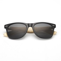 Vintage Unisex Classic Wooden Leg AC Frame Sunglasses Wooden Sunglasses - intl