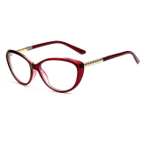 Toko Vintage Wanita Lensa Kacamata Bingkai Kacamata Retro Jelas Lensa Kacamata For Perempuan Lengkap Tiongkok