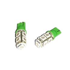 LED 9 Mata T10 Untuk Lampu Motor 2 Pcs - hijau