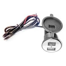 USB Charger Motor Waterproof- Cas HP di motor - Hitam