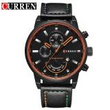 Jual Vorstek Curren Pria Olahraga Quartz Militer Watches Male Date Leather Casual Watch 8217 Hitam Hitam Intl Import