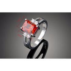VVIP Jewelry Cincin Berlian Lapis Emas Putih Batu Merah