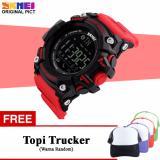 Beli Waduke Jam Tangan Sport Fitnes Pria Smartwatch With Bluetooth Free Topi Trucker Kredit