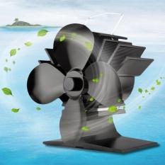 WARM 4 Blades Heat Kipas Kompor Hemat Energi Aluminium Kompor Kipas untuk Rumah-Internasional