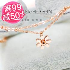 Warna Bunga 18 K Daisy Bunga Emas Gelang Kaki